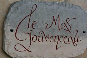 Gravure Pierre de Tavel bicolore Calligraphie