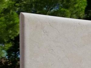 Plaque de pierre Bords arrondis